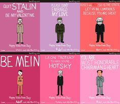 Great dictators apparently also make great valentines