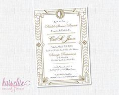 Bridal Shower Invitation  Gatsby by KariEliseDesign on Etsy