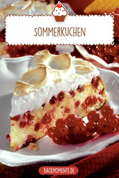 Just bake a delicious summer cake yourself - recipe for cake with currants and meringue. Keto Chocolate Mug Cake, Chocolate Mug Cakes, Healthy Cake, Healthy Desserts, Natural Yogurt, Summer Cakes, Creative Desserts, New Cake, Christmas Desserts