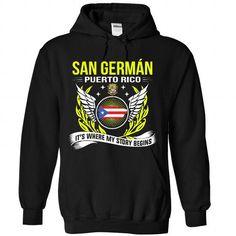 San German - PR - #chambray shirt #cool sweater. CHECKOUT => https://www.sunfrog.com/No-Category/San-German--PR-6615-Black-Hoodie.html?68278