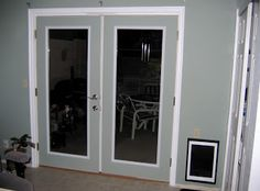 Protect French Doors From Dogs | French Doors And Large Wall Mounted Dog  Door