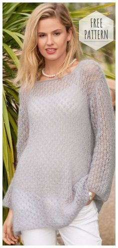 813de0e926a8 EXTENDED JAMPER WITH A FISHING PATTERN SPOKE Lace Knitting, Knitting  Patterns, Knitting Ideas,