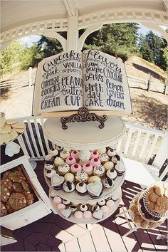 Look at this great display-- a book to show what flavor the cupcakes are