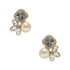 Pearl Crystal Stud Earrings- Kate Spade
