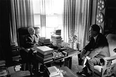 Billy Graham met with President Truman in 1967 at Truman's Missouri home.