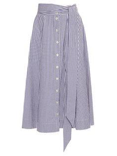 Checked button-up A-line cotton skirt  | Lisa Marie Fernandez | MATCHESFASHION.COM