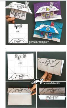 Paper Crafts For Kids, Fun Crafts, Diy And Crafts, After School, Pre School, Origami, Happy New Year 2019, Winter Fun, Preschool Activities
