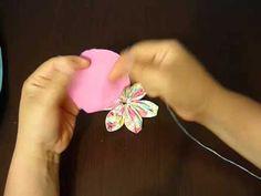 Manualidades la hormiga. como hacer unas hermosas flores para alfileteros. video No.022