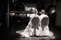 Vidéoprojection surprise lors d'un mariage