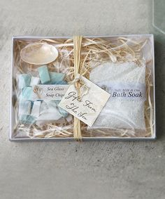 This Gifts from the Sea Spa Gift Package is perfect! #zulilyfinds