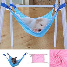Hot Sale Cute Pet Cat Dog Cage House Hammock Soft Bed Animal Hanging Pupply Net Cloth Hammock L Blue * Check out this great product.Note:It is affiliate link to Amazon.