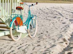 Bicycle Blue on Beach by Phoenixsa