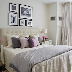 Contemporary Bedroom with Mirrored Nightstands, Contemporary, Bedroom
