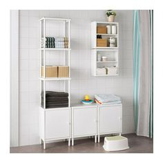 "DYNAN Wall shelf  - IKEA $15 ea - can combine several Width: 15 3/4 "" (40 cm) Depth: 5 7/8 "" (15 cm) Height: 15 3/4 "" (40 cm)"