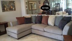 Stylish contemporary design and with soft upholstery fabric and plush seating cushions with a colorful pillow back create comfortable and eye appealing sectional that is sure to enhance the style and comfort of any living area.    Yesterdays Treasures Consignment  5829 Lone Tree Way Suite J  Antioch  925 - 233 - 4547