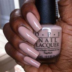 Pink squared nails.