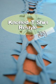 Knotted T-Shirt DIY - restyle and modification