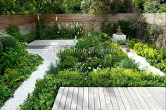 Contemporary family garden in Putney, South West London, by Charlotte Rowe Garden Design with generous rich planting beds, seating and dining areas and no lawn