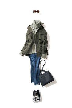 skinny x indigo / PANTS / Kyoko Kikuchi's Closet Tomboy Fashion, Work Fashion, Daily Fashion, Fashion Outfits, Womens Fashion, Mode Outfits, Casual Outfits, Fall Winter Outfits, Winter Fashion