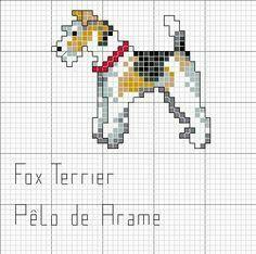 Fox Terriers, Perro Fox Terrier, Wirehaired Fox Terrier, Wire Fox Terrier, Hand Work Embroidery, Embroidery Patterns, Cross Stitch Designs, Cross Stitch Patterns, Cross Stitching