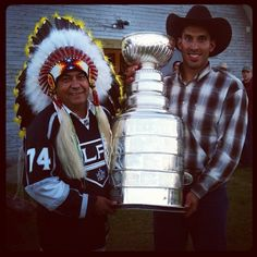 Cheif Norman and Cowboy Dwight (via @keeperofthecup)
