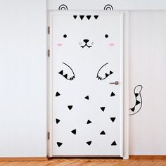 Adorable Stickers That Transform Ordinary Doors Into Lovely Animals - DesignTAXI.com