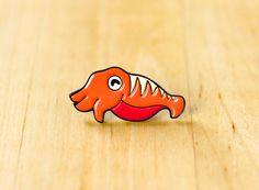 Inktvis geëmailleerde pin zacht emaille pins door OhPlesiosaur