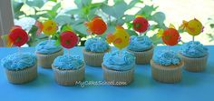 Fish Cupcake Lollipop Toppers