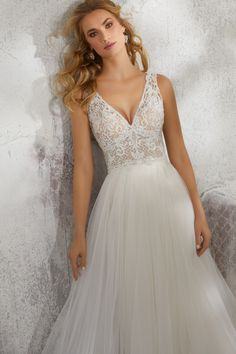 Morilee 8284 Lucinda Beaded and Tulle Ball Gown Wedding Dress – Off White Making A Wedding Dress, Luxury Wedding Dress, Perfect Wedding Dress, Bridal Wedding Dresses, Wedding Dress Styles, Dream Wedding Dresses, Tulle Ball Gown, Ball Gowns, Mori Lee Bridal