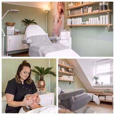 Image may contain: 1 person Beauty Room Salon, Beauty Salon Design, Spa Interior, Interior Design Kitchen, Beauty Treatment Room, Massage Room Decor, Esthetics Room, Home Salon, Home Spa