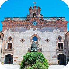 Santuari de Lluc monastery and pilgrimage site in Mallorca - just one of many hidden gems on this beautiful Balearic Island. #Mallorca #BalearicIslands #Balearics #Spain #travelgram #instatravel #SantuariDeLluc #adventure #hiddengem #culture #history #monastery #mallorcagram
