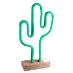 Lampe neon cactus