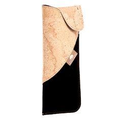 Kork Brillenetui «Natural Black» – Ökologisches Brillenetui aus Kork Phone Cases, Accessories, Reading Glasses, Pocket Wallet, Phone Case