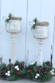 Christmas carol mason jars by WhiteBarnCreations on Etsy