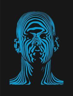 neon+facial+pictures | Blue,Neon,Man,Face,Black,Abstract,Digital Art | A Creative Universe