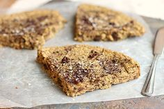 Chocolate Chip Cookie Slice (Sugar-Free, Grain-Free, Nut-Free) | | oatmealwithafork.com
