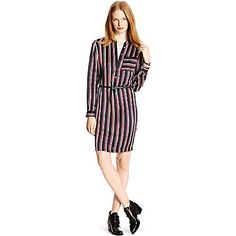 Tommy Hilfiger women's dress. So chic and easy in luxe silk, this pajama-inspired design is one of our favorites. The perfect palette to dress up or down (and ideal for year round wear). Prepare for compliments.<br>• Classic fit.<br>• 100% silk.<br>• Button placket, chest pocket, removable belt.<br>• Dry clean.<br>• Imported.<br>