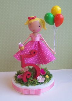 Age birthday cake topper by tinyblossoms on Etsy, $38.00
