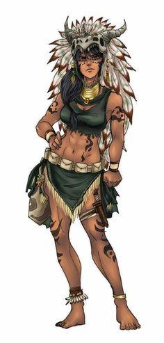 Female Human Druid - Pathfinder PFRPG DND D&D d20 fantasy