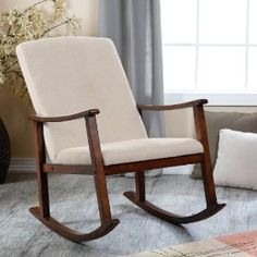 Beautiful Holden Modern Rocking Chair Color - Medium Brown for your house.view them here & Pinterest | 9 Rocking Chairs images | Chairs Chaise lounge chairs ...