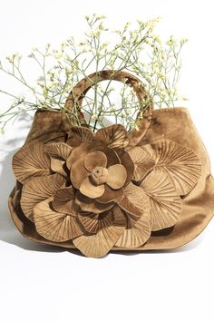 90b9180b85 The SCARLET - VELVET is an ANNE FONTAINE signature handbag in velvet with  an over-