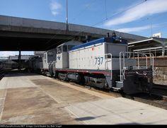 AMTK 737 shoving PV to train 51 Cardinal at Union Station Rolling Stock, Union Station, Locomotive, Diesel, United States, Yard, Train, America, Sports