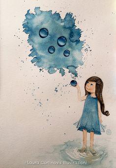 icoloridilaura: Come dipingere le gocce con gli acquerelli