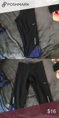Purple and black Nike leggings Super cute and never worn! Price is negotiable Nike Pants Leggings