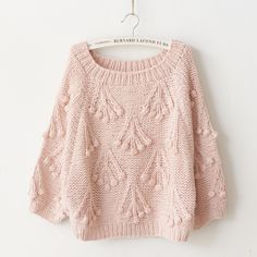 blush pink sweater for fall Hand Knitting, Knitting Patterns, Mode Pop, Pull Bebe, Striped Knit, Pink Sweater, Sweater Fashion, Pretty Outfits, Sweaters