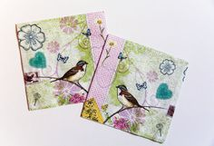 Bird Paper Napkin for decoupage  x 2 by ShimmerPlace on Etsy, $2.20