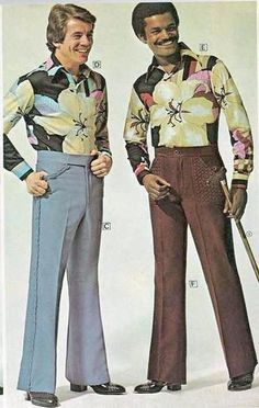 1970s fashion (Rennie is gorgeous, as always), but those clothes! - they are clownsuits! - I could not bear it & refused to wear them...