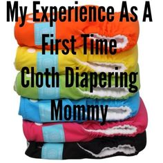 Diary of a Fit Mommy: My First Time Experience With Cloth Diapering. Includes a simple washing routine, best detergent to use, how to prep new cloth diapers, and how to change them using a DIY sprayer & diaper pail.