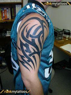 black-half-sleeve-tribal-tattoo-for-men.jpg (600×800)