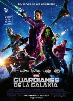 Póster Guardianes de la galaxia. Publicado en ACCIÓN Nº 1408 - Agosto 2014